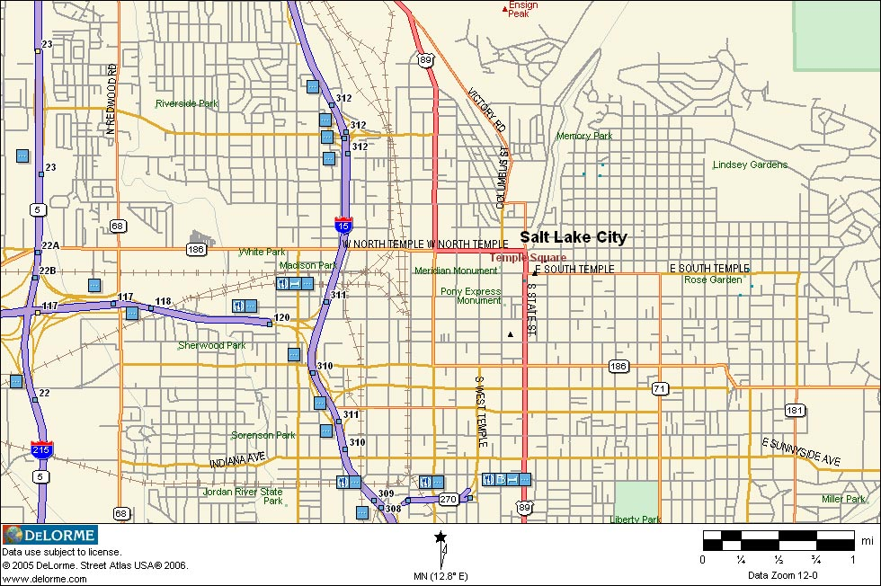 Map Of Salt Lake City Images
